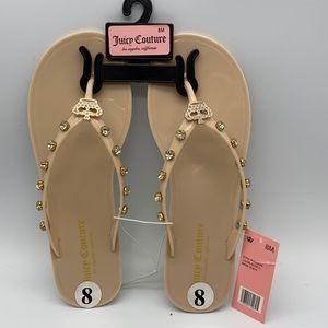 Juicy Couture Flip Flops Size 8
